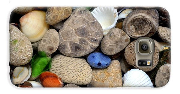 Petoskey Stones Lll Galaxy S6 Case by Michelle Calkins