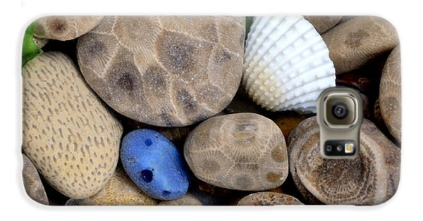 Petoskey Stones V Galaxy S6 Case by Michelle Calkins