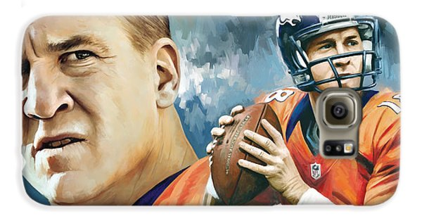Peyton Manning Artwork Galaxy S6 Case by Sheraz A
