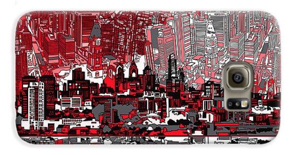 Philadelphia Skyline Abstract 4 Galaxy S6 Case
