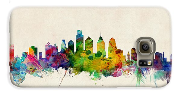 Philadelphia Skyline Galaxy S6 Case by Michael Tompsett