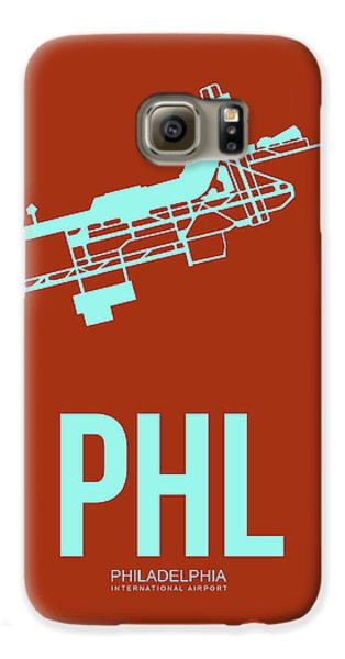 Philadelphia Galaxy S6 Case - Phl Philadelphia Airport Poster 2 by Naxart Studio