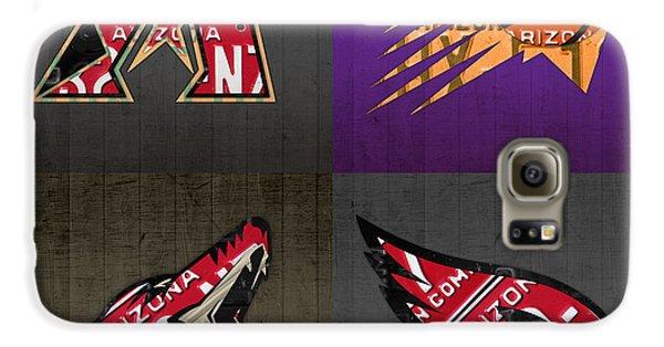 Phoenix Sports Fan Recycled Vintage Arizona License Plate Art Diamondbacks Suns Coyotes Cardinals Galaxy S6 Case