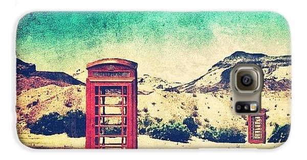 Sunny Galaxy S6 Case - #phone #telephone #box #booth #desert by Jill Battaglia