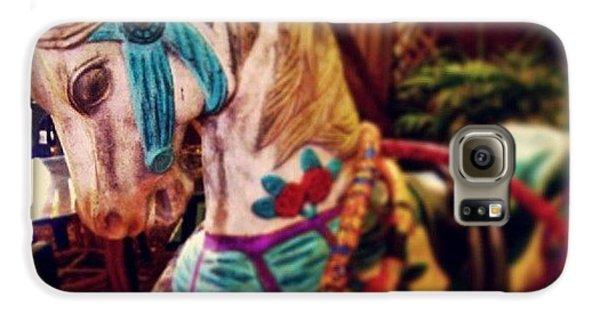 Decorative Galaxy S6 Case - Blue Heaven Carousel Horse by Dani Hoy