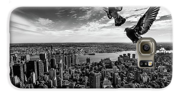 Pigeons On The Empire State Building Galaxy S6 Case
