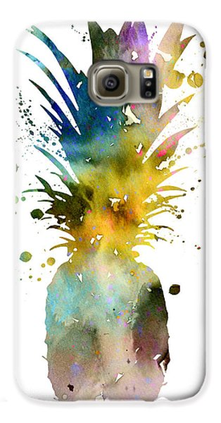 Pineapple 2 Galaxy S6 Case by Watercolor Girl