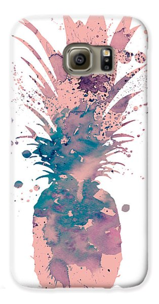 Pineapple 3 Galaxy S6 Case by Watercolor Girl