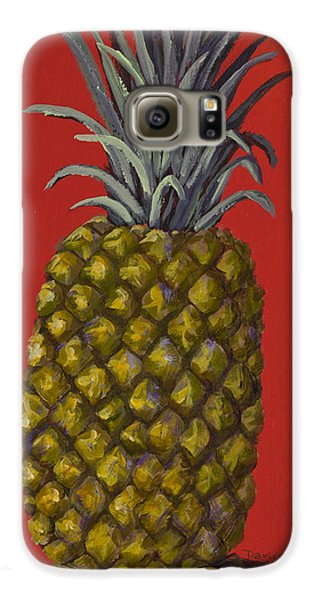 Pineapple On Red Galaxy S6 Case