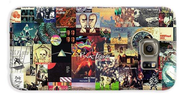 Rock And Roll Galaxy S6 Case - Pink Floyd Collage II by Taylan Apukovska