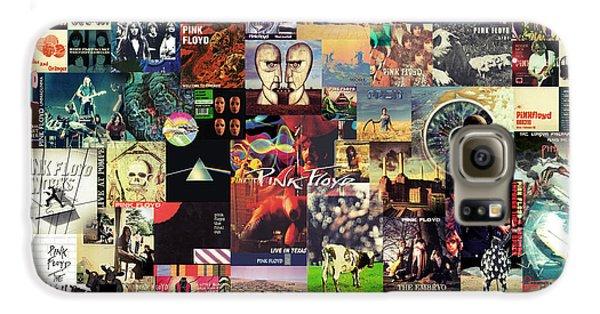 Rolling Stone Magazine Galaxy S6 Case - Pink Floyd Collage II by Taylan Apukovska