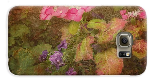 Pink Hydrangea And Purple Pansies Galaxy S6 Case