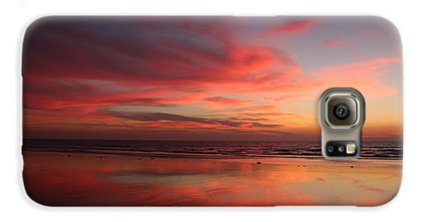 Ocean Sunset Reflected  Galaxy S6 Case