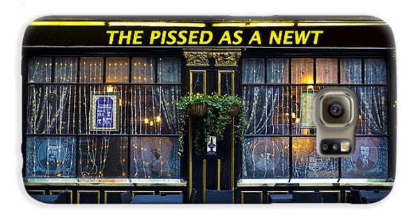 Pissed As A Newt Pub  Galaxy S6 Case by David Pyatt