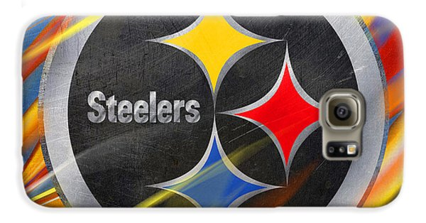Blues Legend Galaxy S6 Case - Pittsburgh Steelers Football by Tony Rubino
