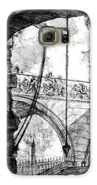 Plate 4 From The Carceri Series Galaxy S6 Case by Giovanni Battista Piranesi