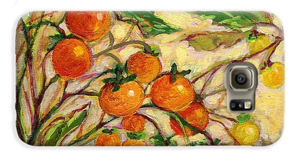 Tomato Galaxy S6 Case - Plein Air Garden Series No 15 by Jennifer Lommers