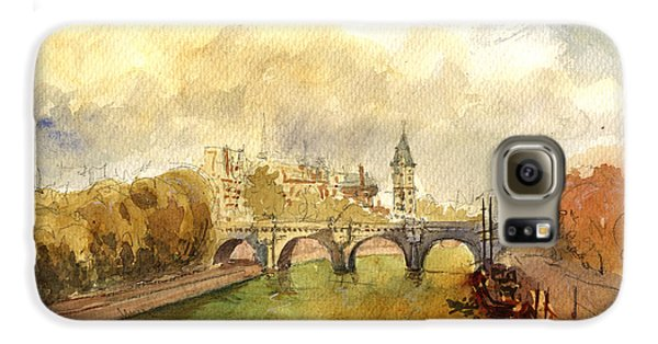 Ponte Neuf Paris Galaxy S6 Case by Juan  Bosco