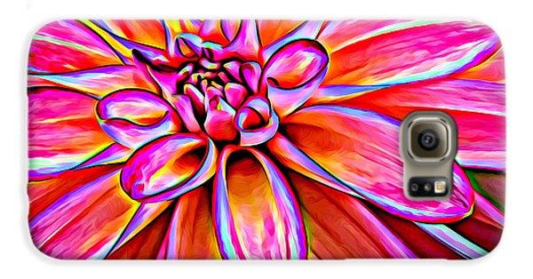 Pop Art Dahlia Galaxy S6 Case