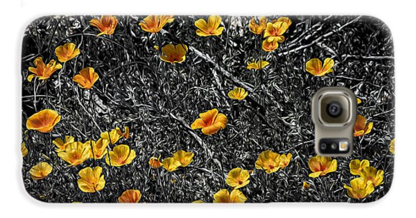 Galaxy S6 Case featuring the photograph Poppyflies by Mark Myhaver