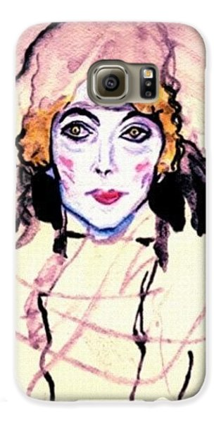 Portrait Of A Lady En Face After Gustav Klimt Galaxy S6 Case