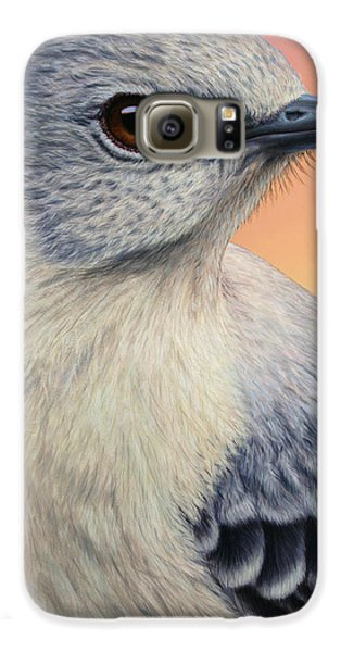 Portrait Of A Mockingbird Galaxy S6 Case by James W Johnson