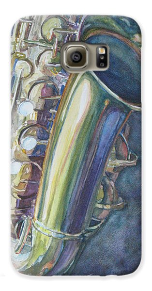Portrait Of A Sax Galaxy S6 Case by Jenny Armitage