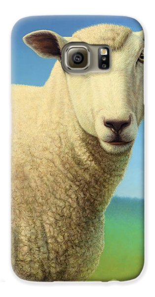 Sheep Galaxy S6 Case - Portrait Of A Sheep by James W Johnson