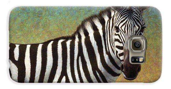 Portrait Of A Zebra Galaxy S6 Case by James W Johnson