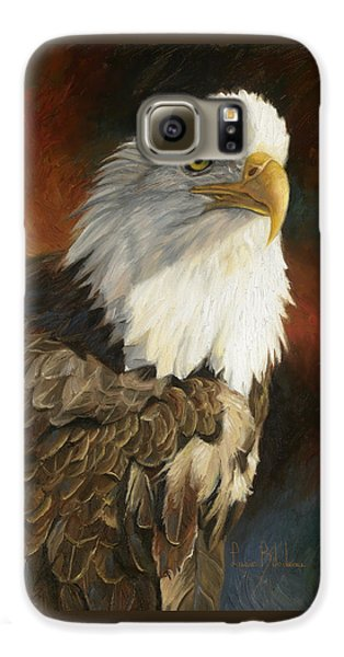 Portrait Of An Eagle Galaxy S6 Case by Lucie Bilodeau