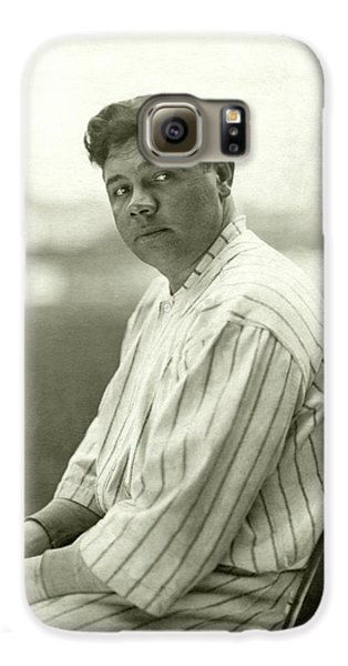 Portrait Of Babe Ruth Galaxy S6 Case by Nicholas Muray