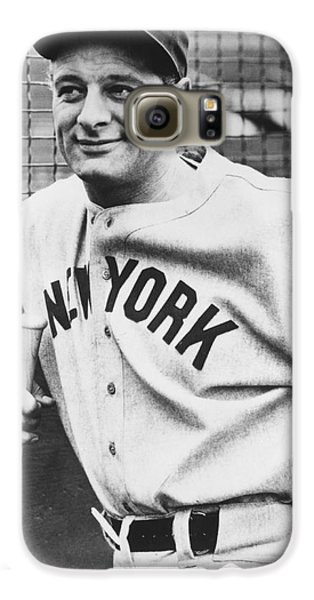 Baseball Players Galaxy S6 Case - Portrait Of Lou Gehrig by Underwood Archives