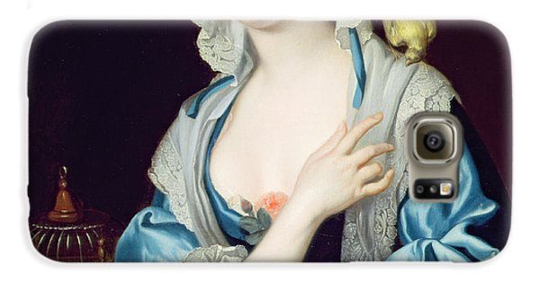 Portrait Of Peg Woffington Galaxy S6 Case by Jean-Baptiste van Loo