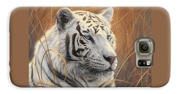 Tiger Galaxy S6 Case - Portrait White Tiger 2 by Lucie Bilodeau