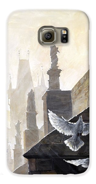 Prague Morning On The Charles Bridge  Galaxy S6 Case by Yuriy Shevchuk
