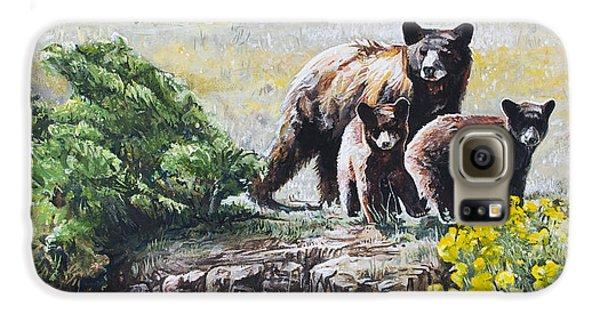 Prairie Black Bears Galaxy S6 Case by Aaron Spong