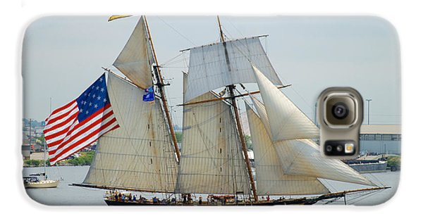 Pride Of Baltimore II Passing By Fort Mchenry Galaxy S6 Case
