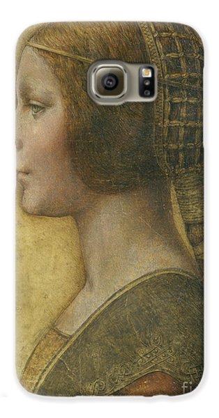 Portraits Galaxy S6 Case - Profile Of A Young Fiancee by Leonardo Da Vinci