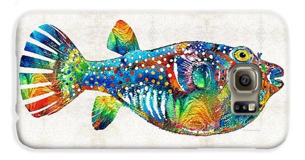 Puffer Fish Art - Blow Puff - By Sharon Cummings Galaxy S6 Case