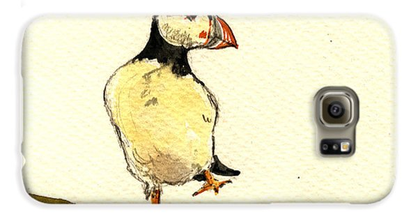 Puffin Galaxy S6 Case - Puffin Bird by Juan  Bosco