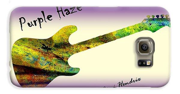 Voodoo Galaxy S6 Case - Purple Haze Scuse Me While I Kiss The Sky Hendrix by David Dehner