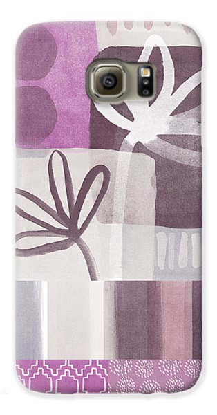 Orchid Galaxy S6 Case - Purple Patchwork- Contemporary Art by Linda Woods