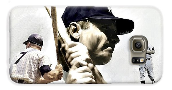 Quality Of Greatness Mickey Mantle Galaxy S6 Case by Iconic Images Art Gallery David Pucciarelli