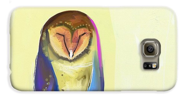 Blue Galaxy S6 Case - Quiet Owl by Cathy Walters