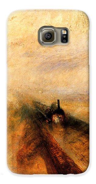 Train Galaxy S6 Case - Rain Steam And Speed.  by J M W Turner
