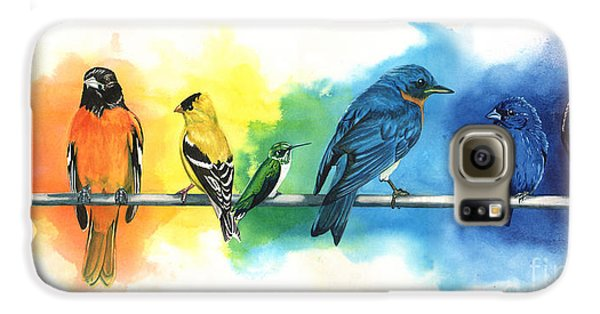 Rainbow Birds Galaxy S6 Case