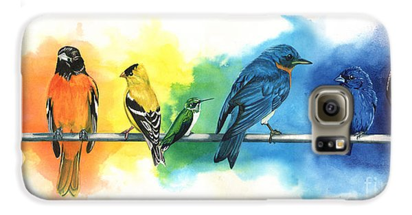 Rainbow Birds Galaxy S6 Case by Antony Galbraith