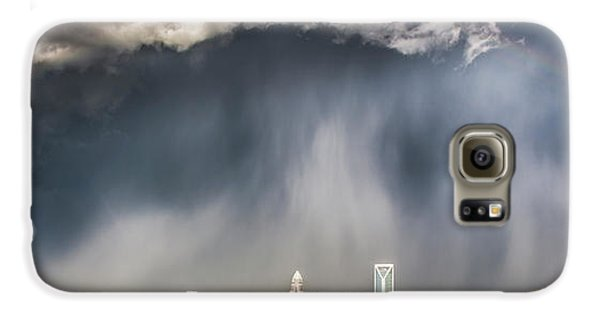Skylines Galaxy S6 Case - Rainbow Over Charlotte by Chris Austin
