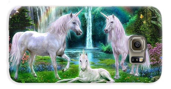 Rainbow Unicorn Family Galaxy S6 Case