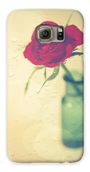 Rose Galaxy S6 Case - Raindrops On Roses . . . by Jan Bickerton